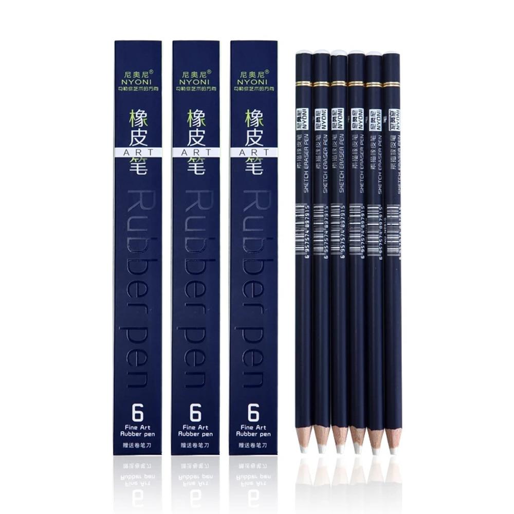 [해외]NYONI Highlight Pen Style Elastone Eraser Pencil Rubber Revise Details Highlight Modeling For Manga Design Drawing Art Supplies/NYONI Highlight Pe