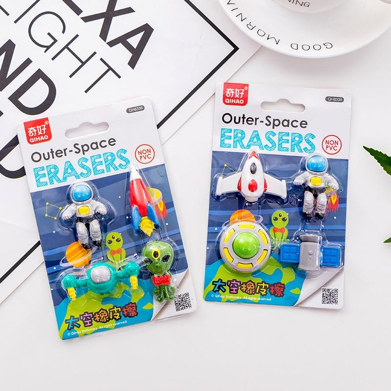 [해외]1set Outer Space Cartoon Creative Eraser, Kawaii Spaceman Cute Alien Student Gift Stationery Set Boy`s Gift/1set Outer Space Cartoon Creative Eras