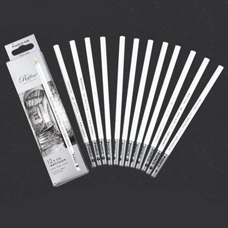 [해외]화이트 숯 연필 스케치 스케치 숯불 연필 세트 12pcs / set/White Charcoal Pencil Set for Sketching Brown Sketch Charcoal Pencils 12pcs/set
