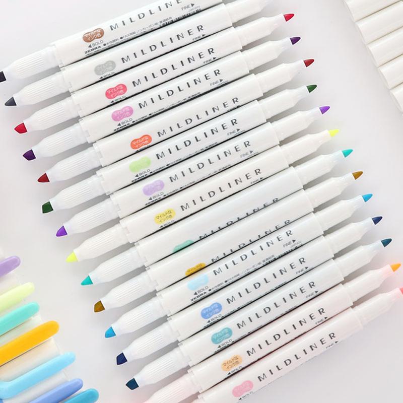[해외]1PCS 일본 얼룩말 가벼운 라이너 펜 드로잉 마커 펜 두 번 향한 형광 펜 Arte 마크 펜 형광펜/1Pcs Japanese Zebra Mild liner Pens Drawing Marker Pen Double Headed Fluorescent Pen Arte