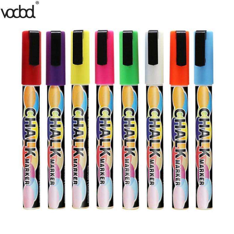 [해외]VODOOL 8pcs 액체 분필 지우기 형광펜 펜 다채로운 아트 페인팅 칠판 창 유리 마커 펜 편지지 용품/VODOOL 8pcs Liquid Chalk Erasable Highlighter Pens Colorful Art Painting Chalkboard Wi