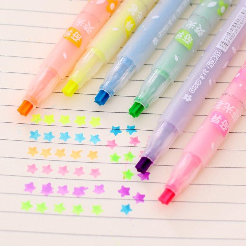 [해외]10PCS DIY 귀여운 별 페인팅 형광펜 아트 형광펜 펜 드로잉 마크 펜 편지지 Scrapbooking 마커 장식/10Pcs DIY Cute Stars Painting Fluorescent Pen Art Highlighter Pen Drawing Mark Pe