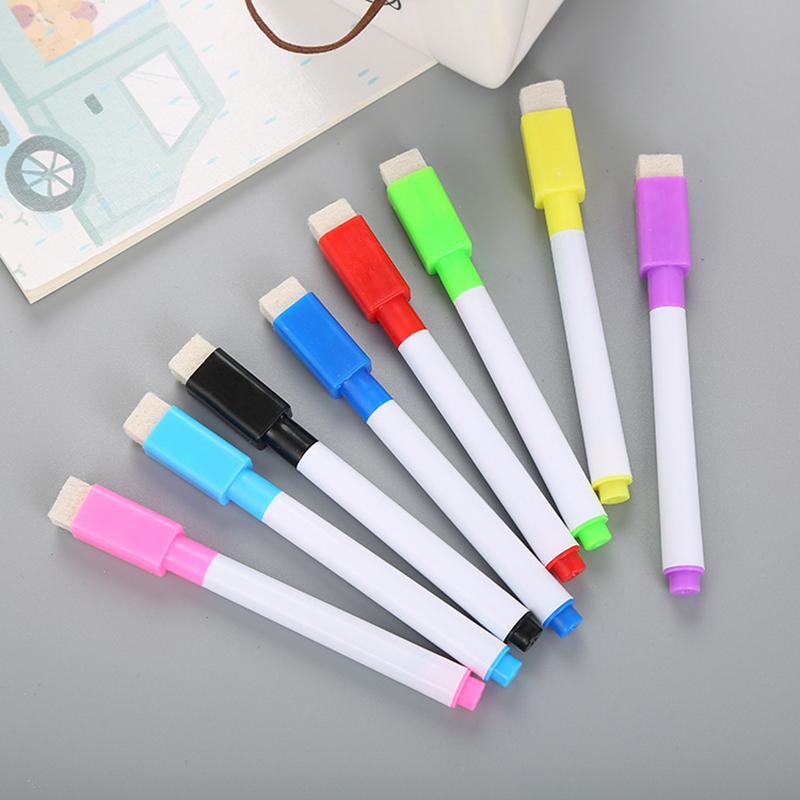 [해외]8Pcs / Pack 다채로운 자석 화이트 보드 지우개 드라이 연필 화이트 마커 자석 드로잉 펜에 대 한 Office 교육/8Pcs/Pack Colorful Magnetic Whiteboard Pen Erasable Dry White Board Markers M