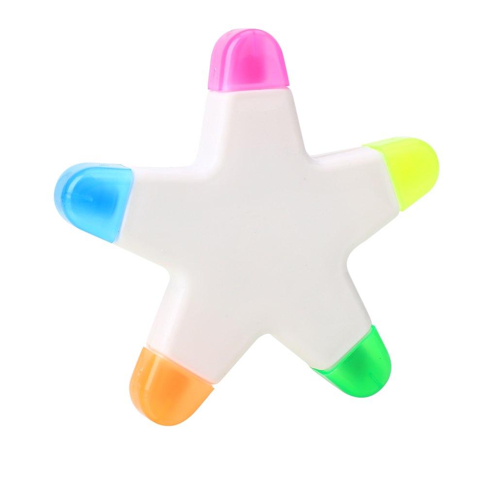 [해외]5- 지적 스타 형광 펜 마커 펜 그림 선물 문구 귀여운 크리 에이 티브/Five-Pointed Star Fluorescent Pen Marker Pen Painting Gifts Stationery Cute Creative