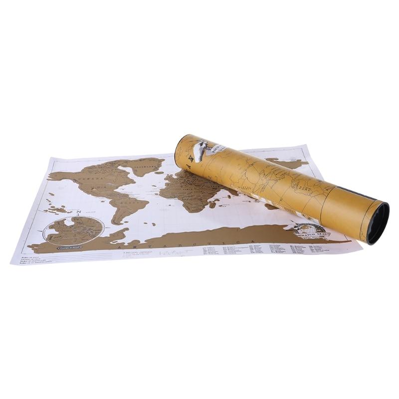[해외]디럭스 스크래치 저널 세계지도 맞춤형 여행 포스터 맞춤 장식 스크래치지도 2/Deluxe Scratch Off Journal World Map Personalized Travel Poster Custom Decoration Scratch Map 2