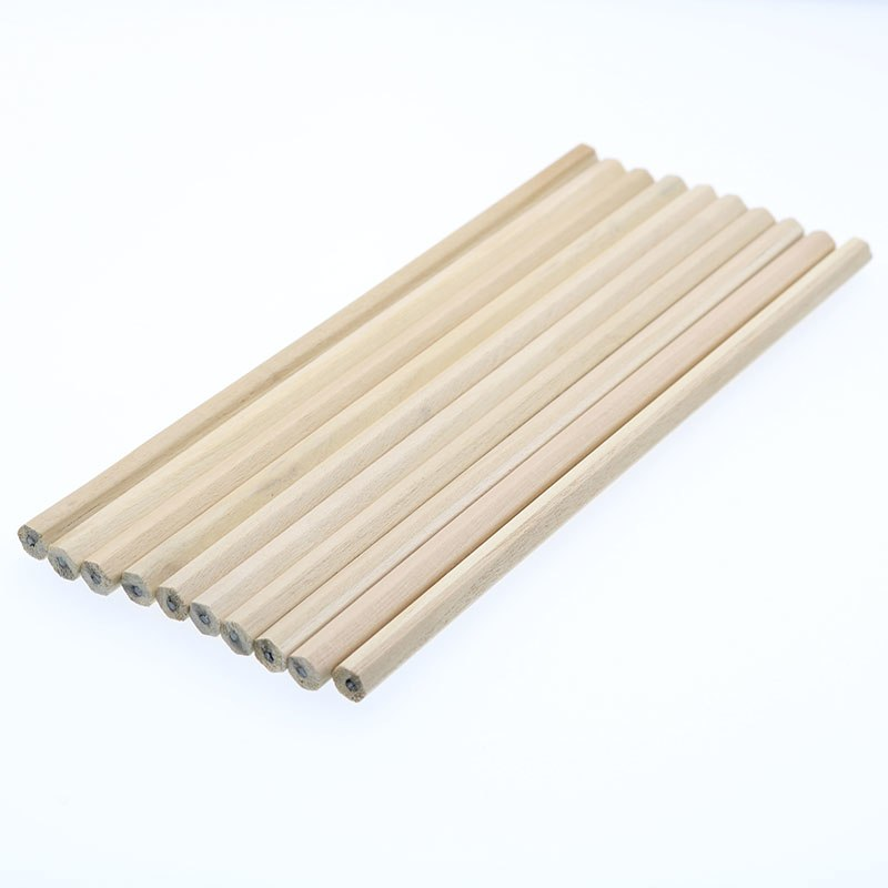 [해외]/10pcs / Pc Blank Environmental Natural Wood HB Hexagonal Pencil Nontoxic Standard Pencil Stationery Cute Office School Supplies