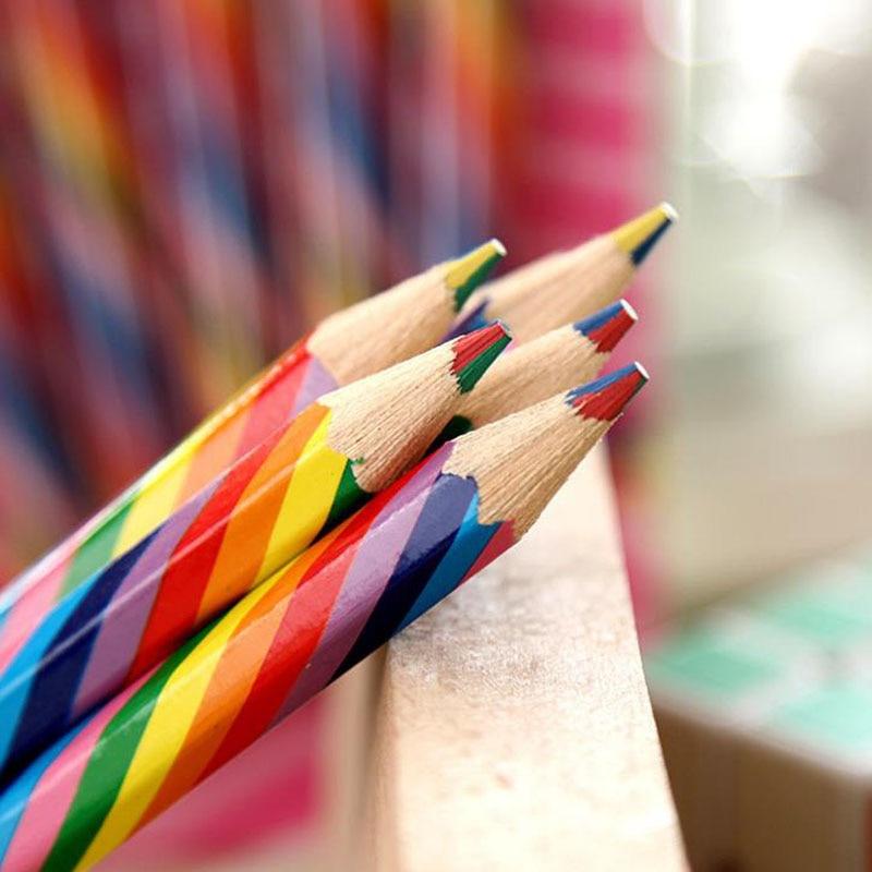 [해외]/4Pcs/set Lovely Multicolor     for Writing     Creative   Student Supply w17 Writing Drawing   Pencil