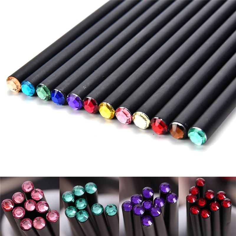 [해외]/Diamond Color   Student Supply Items Writing Cute Stationery   For Creative Bass  School Creative Wooden HB Pencil