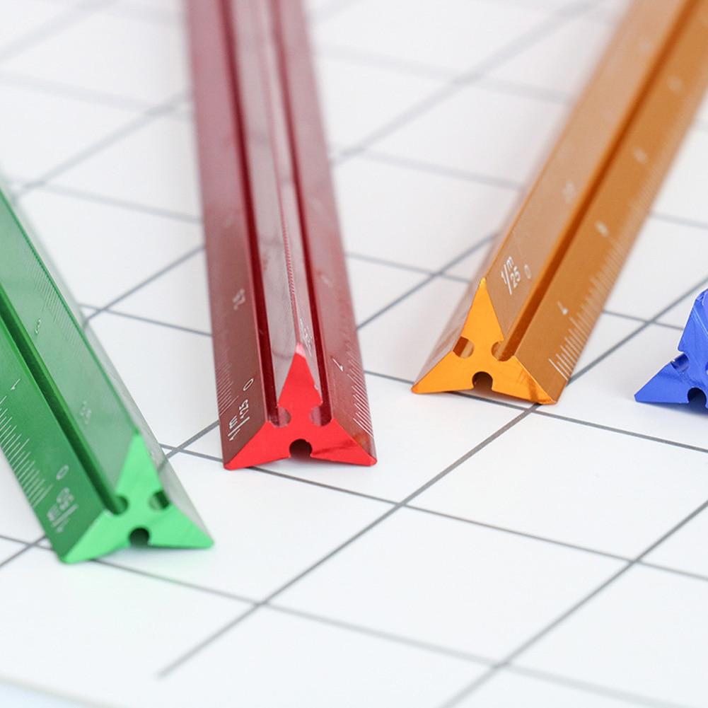[해외]Colorful School Ruler Triangular Office Supplies Small Proportion Measuring Tool Scale Ruler Multifunctional Aluminum/Colorful School Ruler Triang