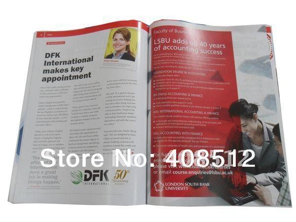 [해외]-MOQ 500PCS 인쇄 A4 사이즈 32 페이지 카탈로그 / 잡지 - 스티치 안장/A4 size 32 pages catalogue/magazine printing -MOQ 500pcs - saddle stitched