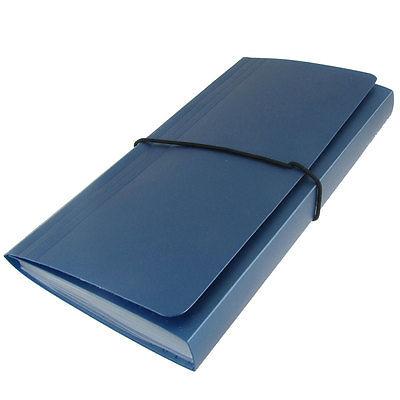 [해외]플라스틱 블루 커버 영어 편지 스티커 파일 폴더 13 포켓/Plastic Blue Cover English Letters Stickers File Folder 13 Pockets