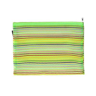 [해외]녹색 메쉬 줄무늬 패턴 지퍼 파일 가방을 들고/Green Meshy Stripes Pattern Zipper Carrying File Bag