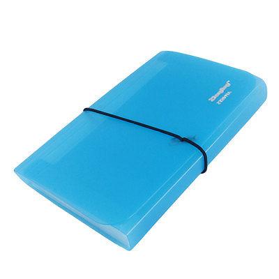 [해외]13 구획 튼튼한 스트랩 폐쇄 파란색 직사각형 용지 문서 파일 폴더/13 Compartments Stretchy Strap Closure Blue Rectangle Paper Document File Folder