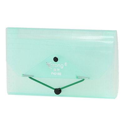 [해외]탄성 스트랩 폐쇄 빛 녹색 사각형 모양의 플라스틱 청구서 파일 폴더/Elastic Strap Closure Light Green Rectangle Shaped Plastic Bills File Folder