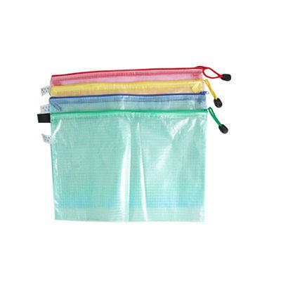 [해외]방수 파일 문서 부드러운 플라스틱 지퍼 가방/Water Resistant File Document Soft Plastic Zipper Bag