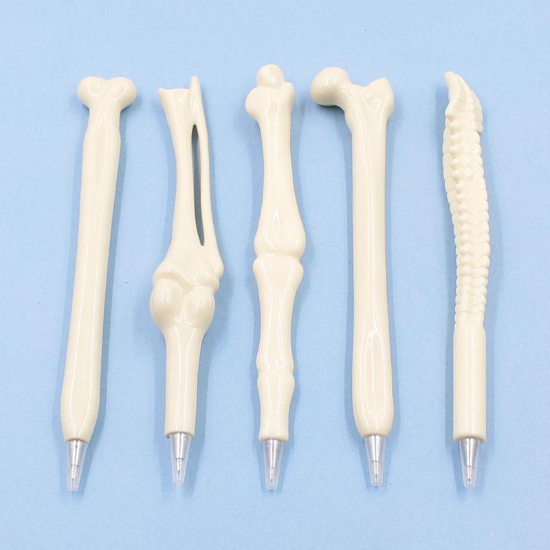 [해외]?5 피스 0.7mm 참신 펜 필기 용품 뼈 모양 볼펜 새로운 선물 학교 문구 블루 리필/ 5 Pcs 0.7mm Novelty Pen Writing Supplies Bone Shape Ballpoint Pen Wholesale New Gift School Off