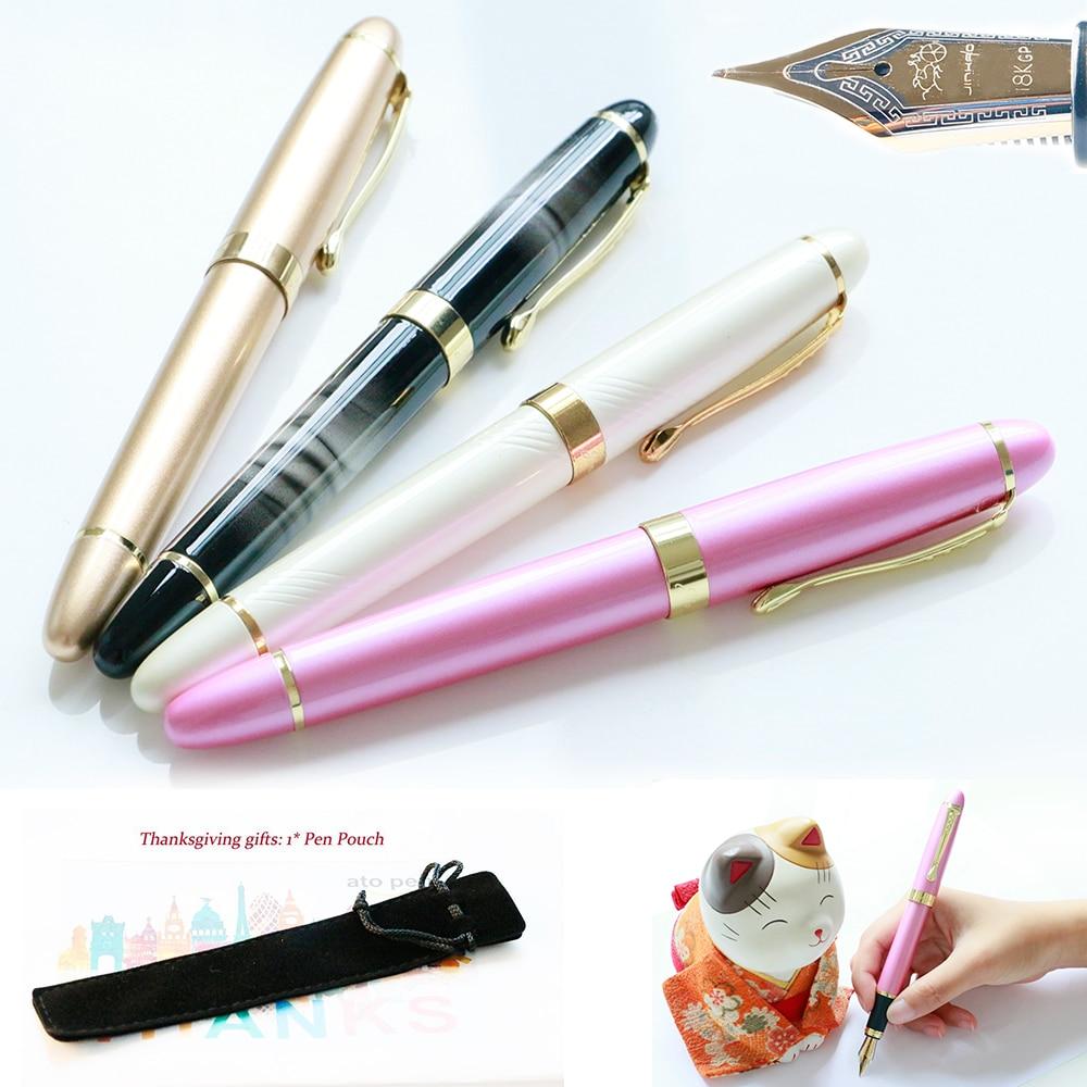 [해외]JINHAO 450 금속 만년필 럭셔리 0.5MM 중간 펜촉 18KGP 달필 잉크 펜 학교와 오피스 문구 Caneta Tinteiro/JINHAO 450 Metal Fountain Pen Luxury 0.5MM Medium Nib 18KGP Calligraphy