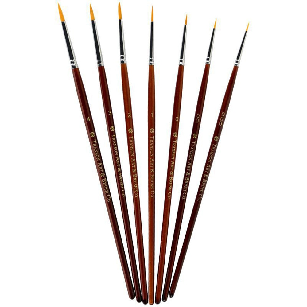 [해외]7 Pcs / Set 전문 Sable 머리 페인트 브러쉬 세부 7 미니어처 아크릴 수채화 그림 그리기 펜 액세서리/7Pcs/Set Professional Sable Hair Paint Brushes Detail 7 Miniature Acrylic Watercol