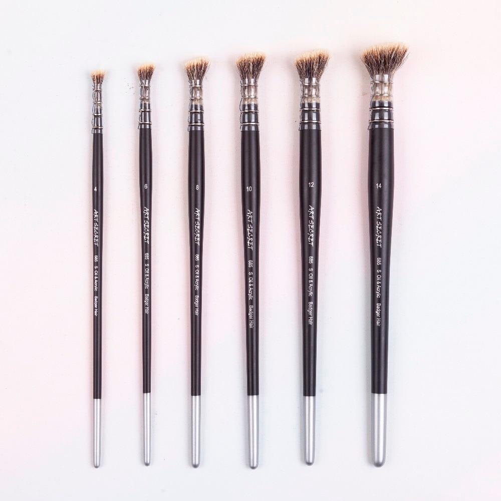 [해외]1PC 685S 오소리 머리카락 나무 손잡이 오일과 그리기아크릴 페인팅 아트 페인트 브러시/1PC 685S badger hair wooden handle oil and acrylic painting art paint brush for drawing