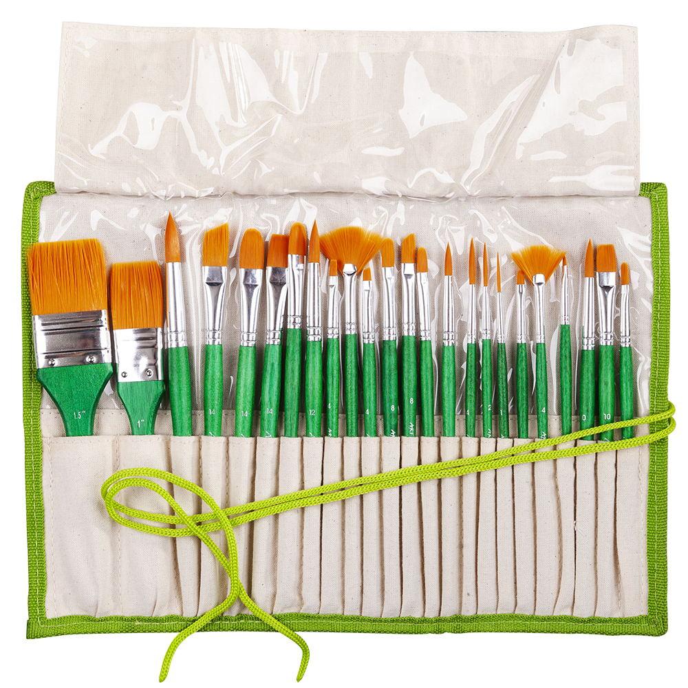 [해외]2252 24PC / set 페인트 아트 브러시 세트 아크릴 수채화 브러쉬 아크릴 및 유화 드로잉 예술적 setpencil 케이스/2252 24PC/set paint art brush set acrylic watercolor brushes artistic set