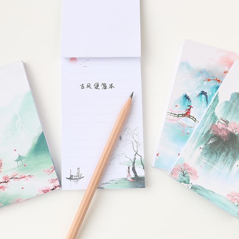 [해외]Unikiwi 작은 참고 레트로 노트북 편지지 클래식 책 골동품 크리 에이 티브 어의 바람 라인 Notebook.W-0332/Unikiwi Small Note Retro Notebook Stationery Classical Book Antique Creative