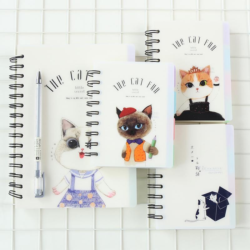[해외]Unikiwi 스트랩 코일 노트북 노트 간단한 패션 PP 투명 매트 커버 가로 라인 안에 .W-0382/Unikiwi Strap Coil Notebook Notebook Simple Fashion PP Transparent Matte Cover Horizonta