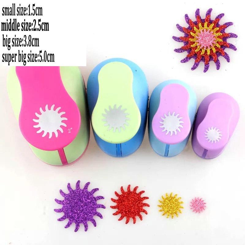 [해외]4pcs 2 & 1.5 & 1 & 5 / 8 & 공예 펀치 세트의 태양 모양 종이 커터 스크랩북 구멍 펀치 세트 종이 펀치 DIA에 바 거품 펀치/4pcs 2& 1.5& 1& 5/8& sun shape of craft punch se