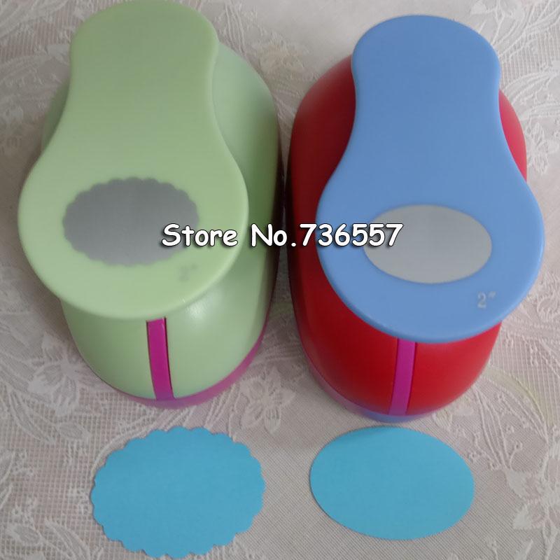 [해외]2 인치 타원형과 웨이브 타원형 구멍 펀치 세트 펀칭기 공예 스크랩북 DIY 종이 커터 타원 파 펀치 /2 inch Oval and Wave Oval Shape hole punch set Puncher Crafts Scrapbooking DIY Paper Cut