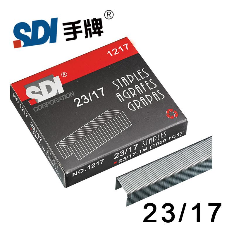 [해외]큰 스테이플러 실버 메탈 1000pcs / 박스 1217 대만 SDI 23/17 헤비 듀티 스테이플 스테이플/Taiwan SDI 23/17 Heavy Duty Staple Staples in big Stapler Silver Metal 1000Pcs/Box 12
