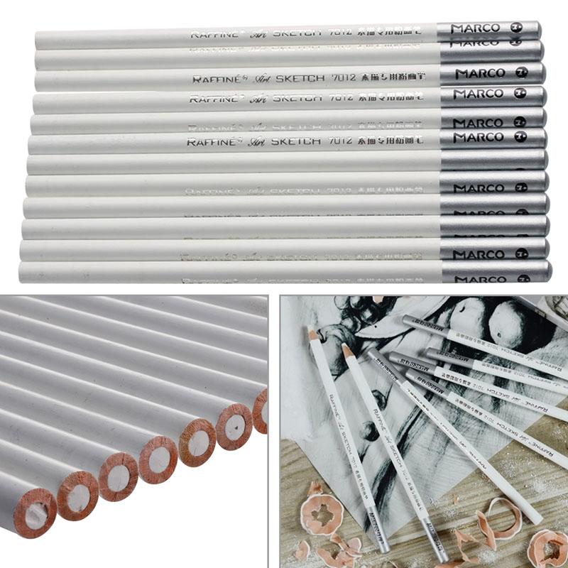 [해외]12pcs 아티스트 스케치 분필에 대한 화이트 독창적 인 드로잉 무독성베이스 파스텔 연필 세트/12pcs White Fine Art Drawing Non-toxic Base Pastel Pencils Set For Artist Sketch chalk