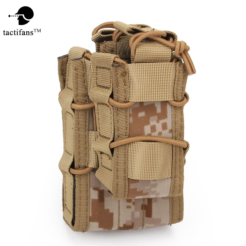 [해외]TACTIFANSDouble Decker 매거진 파우치 Airsoft Mag Pouch 밀리터리용 가방 MOLLE Camouflage Hunting Bag 전술 Double Magazine Mag/TACTIFANSDouble Decker Magazine Pouc