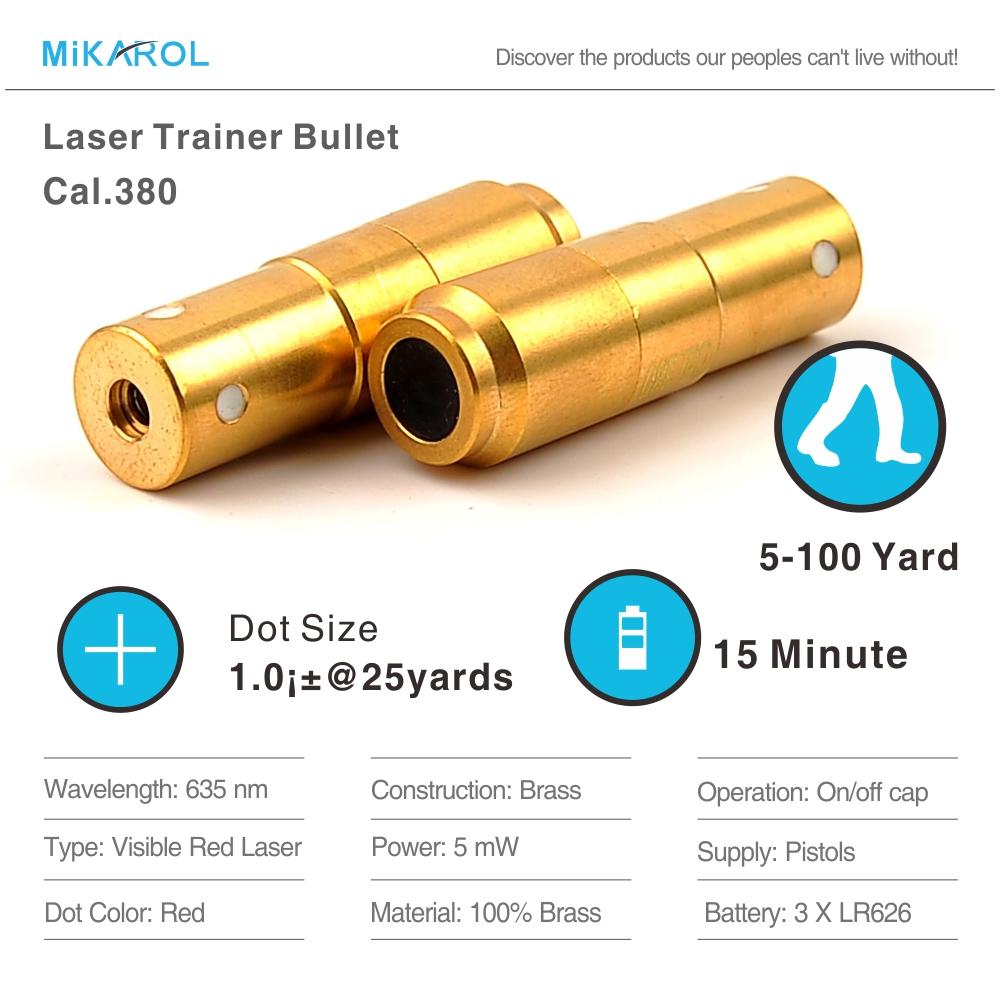 [해외]380ACP 레이저 탄약, 레이저 탄환, 건식 소방 훈련 및 슈팅 시뮬레이션 용 레이저 카트리지, 트레이너 카트리지/380ACP Laser Ammo,Laser Bullet, Laser Cartridge for Dry Fire Training and Shootin