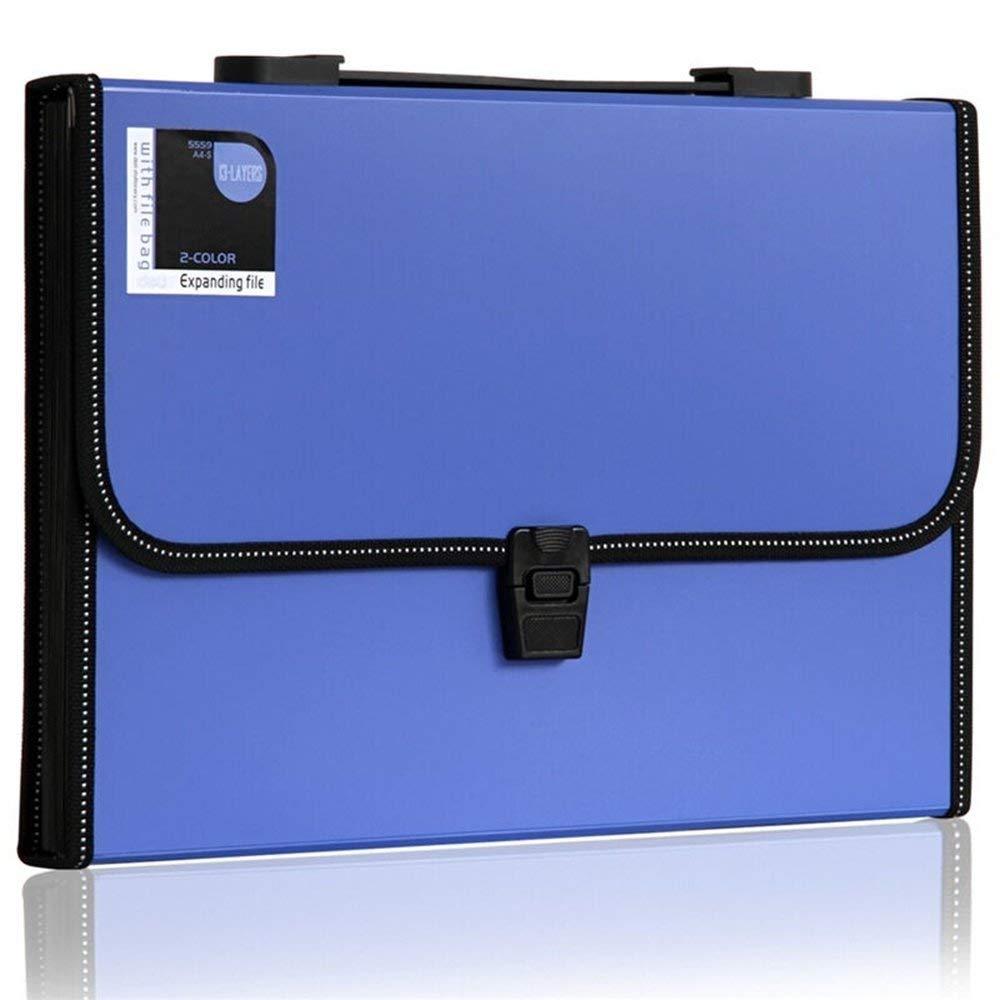 [해외]13 포켓 폴리 팽창 FileHandle, 아코디언 파일 폴더, 문자 크기 (파란색)/13-Pocket Poly Expanding FileHandle, Accordion File Folder, Letter Size (Blue)