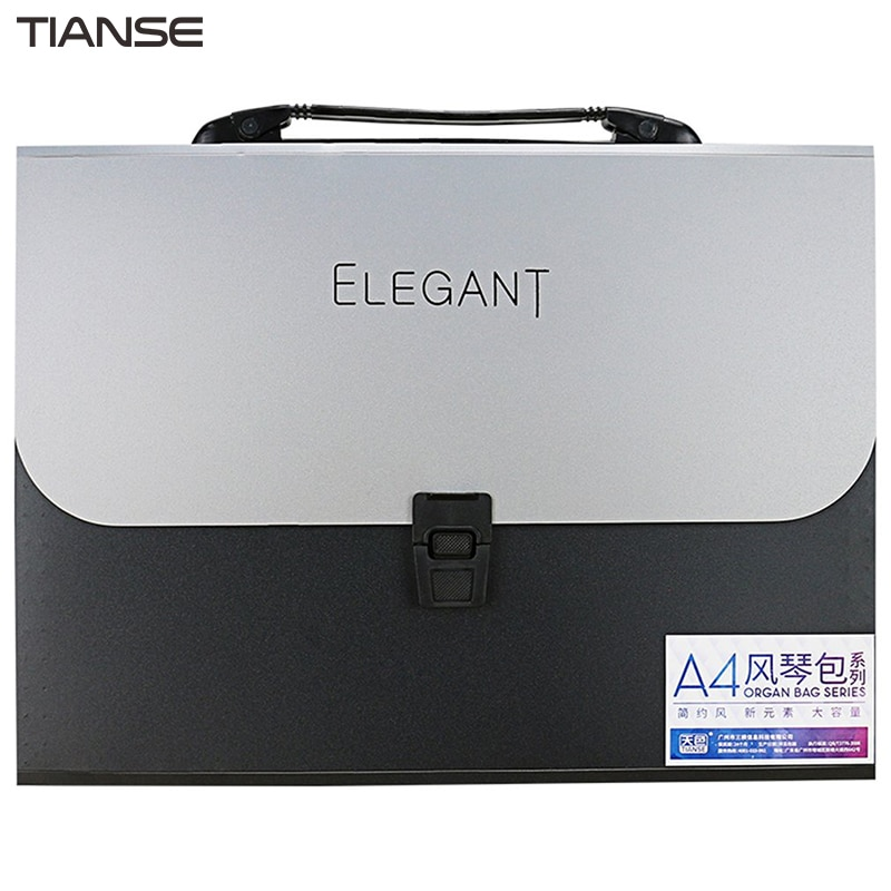 [해외]TIANSE A4 Organ Bag13 레이어 단순 패션 디자인 우아한 비즈니스 파일 HandbagSoft PP 소재 TS1803 처리/TIANSE A4 Organ Bag13 Layers Simple Fashion Design Elegant Business Fi