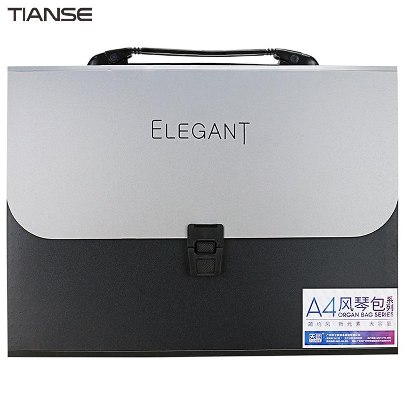 [해외]TIANSE A4 Organ Bag13 레이어 단순 패션 디자인 우아한 비즈니스 파일 HandbagSoft PP 소재 TS1803 처리/TIANSE A4 Organ Bag13 Layers Simple Fashion Design Elegant Business Fi