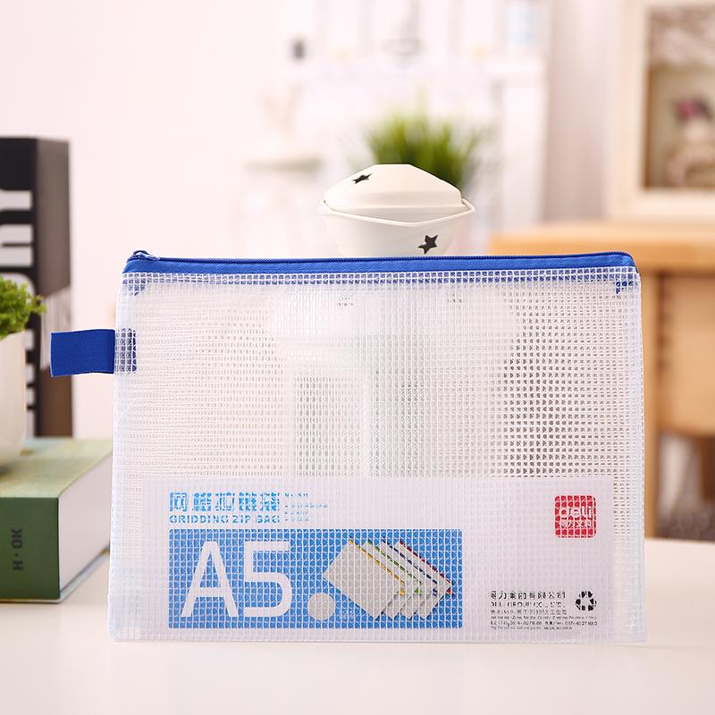 [해외]3pcs 사무실 PVC 투명한 그라인딩 지퍼 가방 A5 160x230mm 학생용 학교 파일 파일 제품 Deli 5591/3 Pcs Office PVC Transparent Grinding Zipper Bag A5 160x230mm Filing Products F