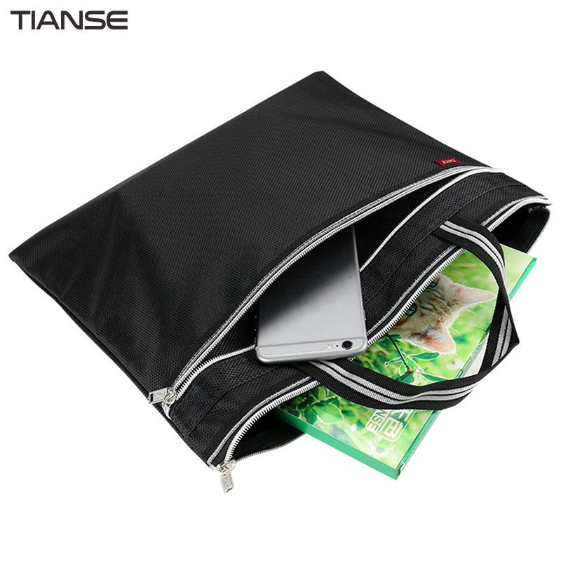 [해외]TIANSE 다기능 방수 내마 모성 지퍼 비즈니스 파일 손 가방 휴대용 대용량 더블 레이어 파일 가방/TIANSE Multifunction Waterproof Wear-resistance Zipper Business File Hand Bags Portable L
