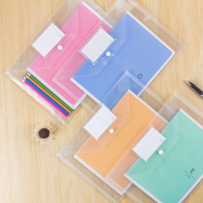 [해외]6pcs / lot A4 크기 플라스틱 방수 문서 포켓 청구서 파우치 파일 펜 제기 포켓 폴더 Office & amp; 학교 용품 S18139/6pcs/lot A4 size plastic Waterproof Document pocket bill pouch