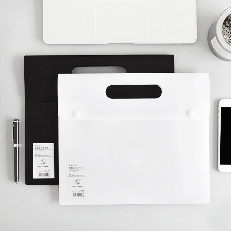 [해외]간단한 일본어 블랙 & amp; 흰색 확장 지갑 문서 가방 A4 320X280mm 파일 커버 비즈니스 스쿨 서류 정리 제품 WJD15/Simple Japanese Black & White Expanding Wallet Documents Bag A4