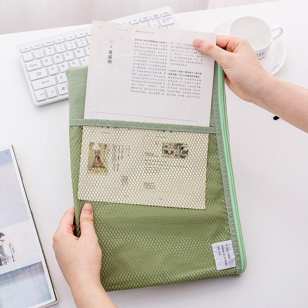 [해외]A4 크기 캔버스 지퍼 서류 가방 파일 홀더 폴더 메쉬 주최자 사무실 가방 서류 가방 학생을연필 가방 새로운 A30/A4 Size Canvas Zipper Briefcase File Holder Folder Mesh Organizer Office Bag  doc