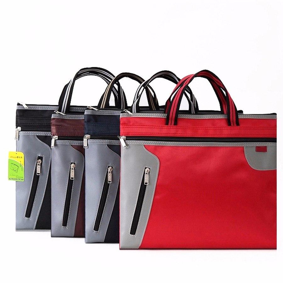 [해외]37X30CM 상업 비즈니스 문서 가방 A4 서류 파일 폴더 서류 가방 서류 가방 사이드 지퍼 포켓 사무실 가방/37X30CM Commercial Business Document Bag A4 Tote file folder Filing Bag Meeting Bag