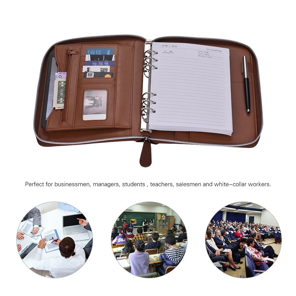 [해외]Padfolio PU 가죽 포트폴리오 홀더 주최자 폴더 보관 문서 쓰기 패드 100 매 루스 리프 지퍼 클로저/Padfolio PU Leather Portfolio Holder Organizer Folder Storage DocumentWriting Pad 10