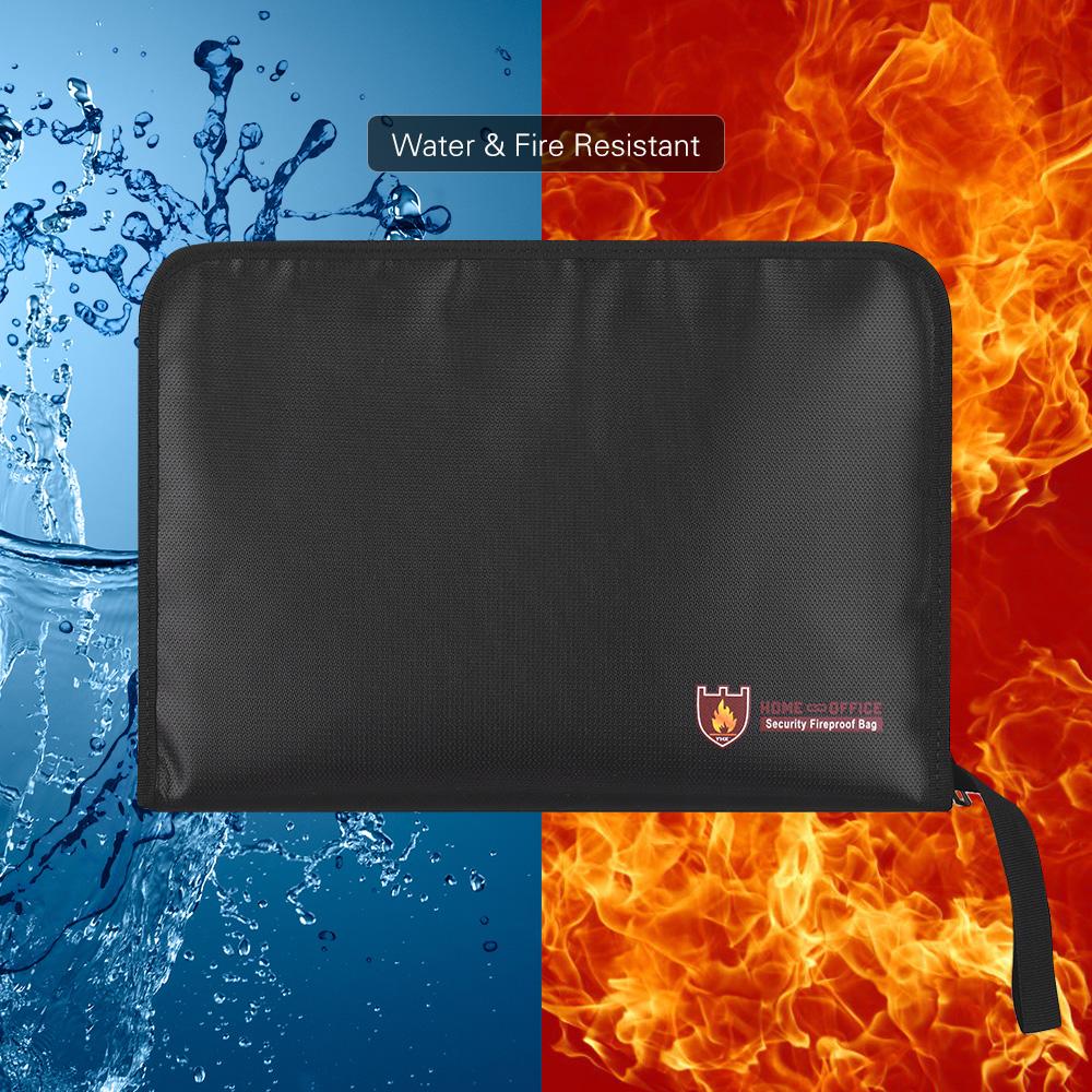 [해외]확장 파일 폴더 내화 서류 가방 물 & amp; 내화성 실리콘 코팅 아코디언 파우치 홀더 확장 가능 파일/Expanding File Folder Fireproof Document Bags Water & Fire Resistant Silicone C