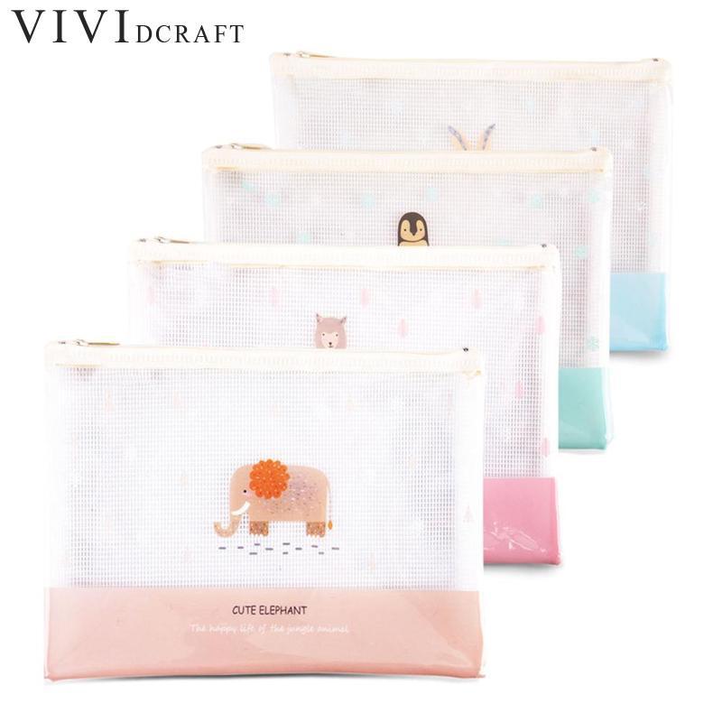 [해외]편지지 1pcs A4 크기 메쉬 지퍼 방수 파일 폴더 가방 문서 가방 서류 가방 Office 학교 용품/Stationery 1pcs A4 Size Mesh Zipper Waterproof File Folder Bag Document Bag Filing Produ
