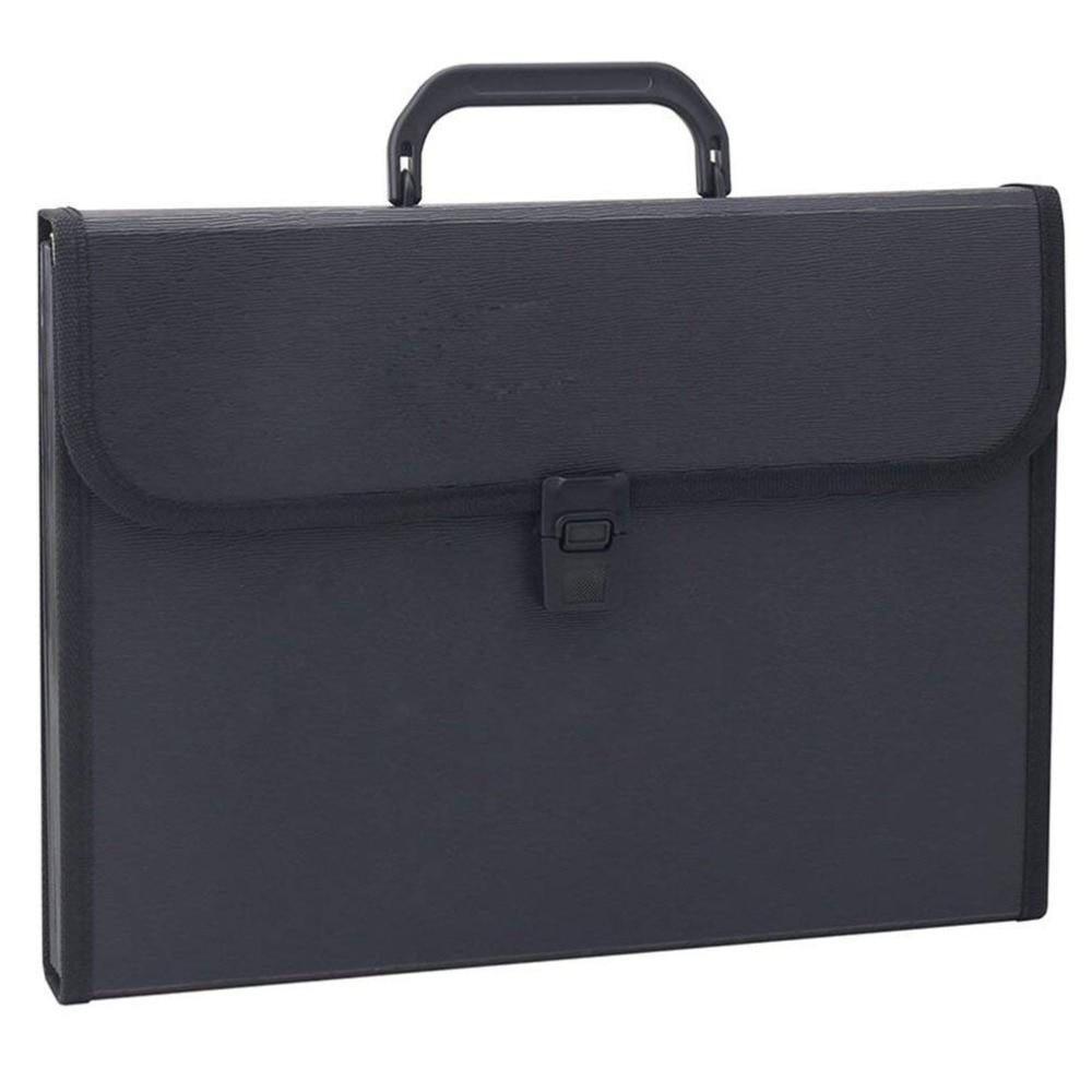 [해외]13 포켓 확장 파일 폴더 핸들, 문자 크기 (검정색)/13 Pocket Expanding File FolderHandle, Letter Size (Black)