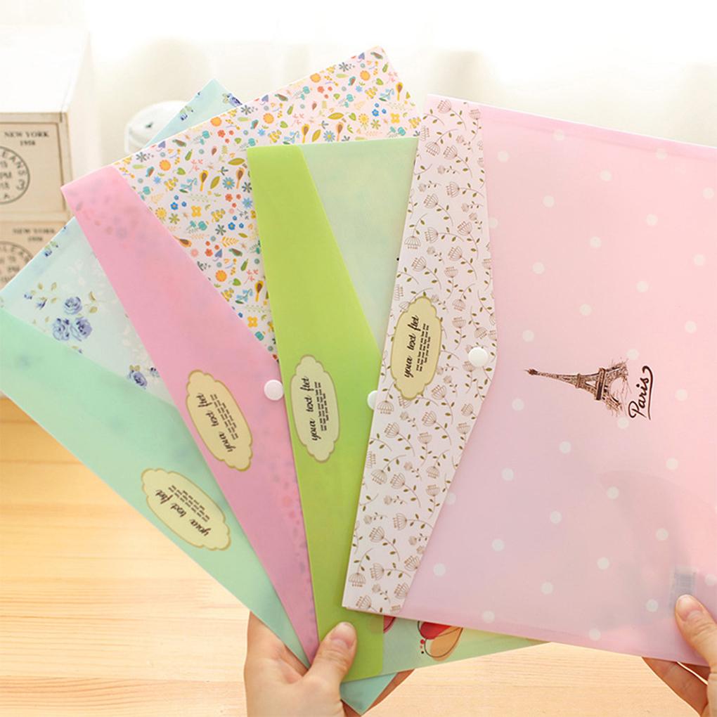 [해외]2PCS 꽃 A4 편지지 가방 파일 보호 가방 내구성이 폴더/2PCS Flower A4 Stationery Bag File Protection Bag Durable Folder