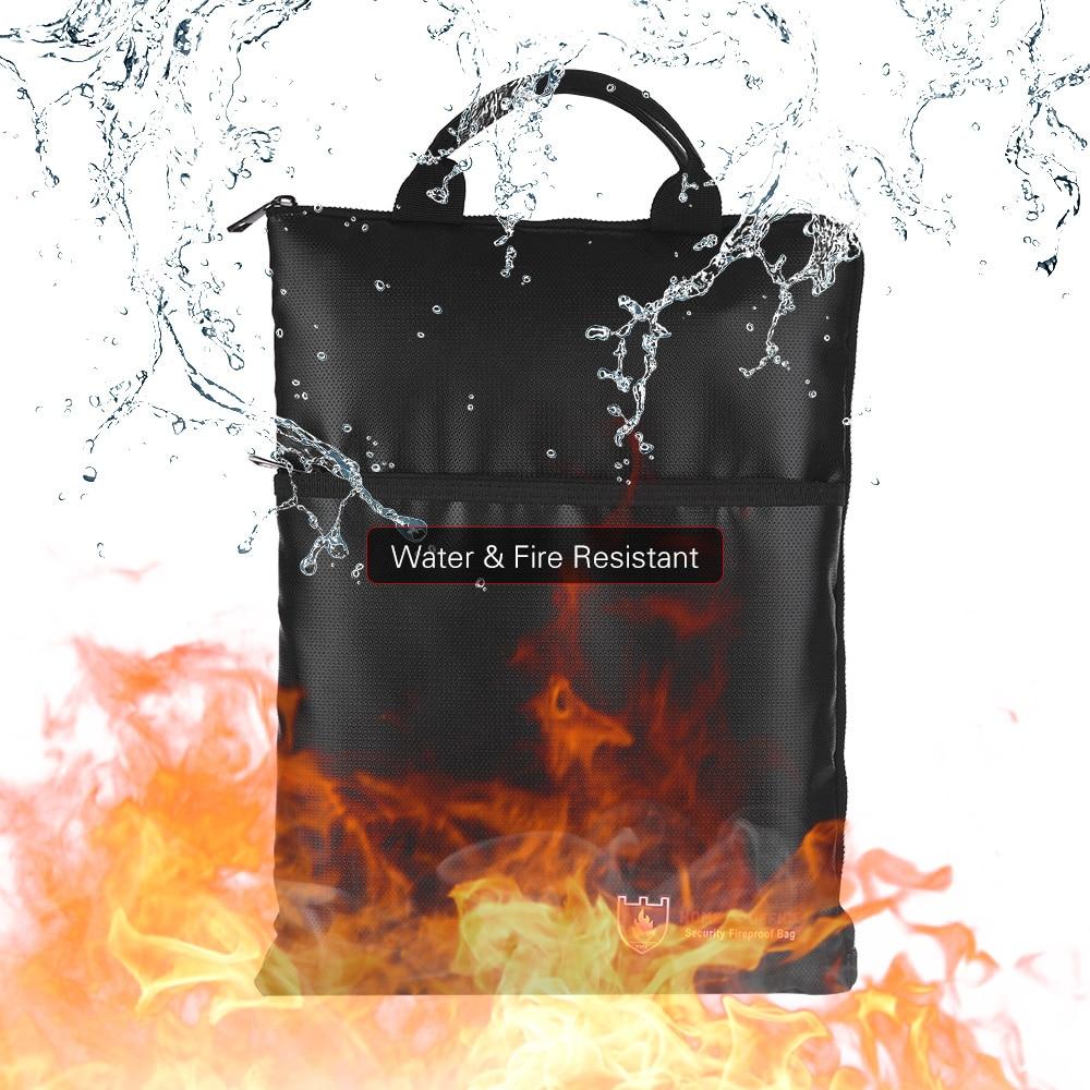 [해외]문서 가방 내화성 방수 파일 파우치 봉투 홀더 코팅 실리콘 유리 섬유 지퍼 현금 폐쇄 안전한 보관/Document Bags Fireproof Water Resistant File Pouch Envelope Holder Coated Silicone Fibergla