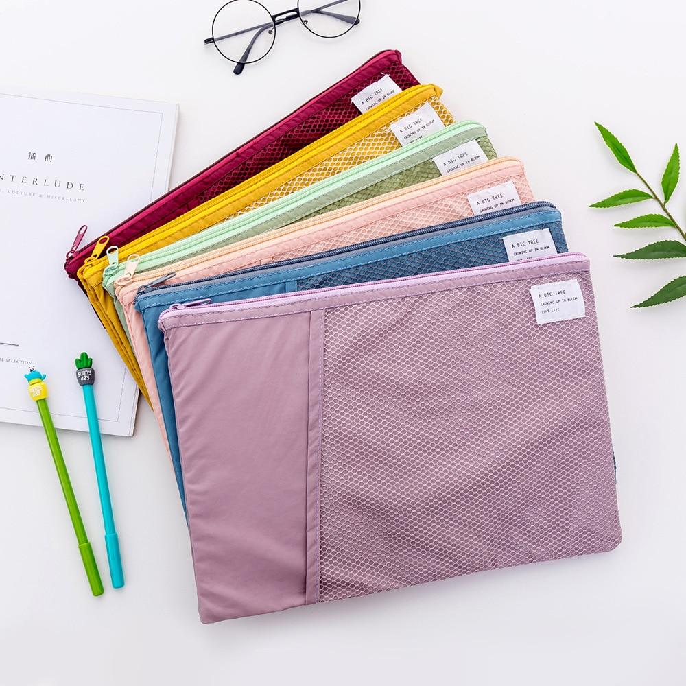 [해외]A4 그리드 다기능 문서 가방 종이 문구 주최자 학교 사무실에 대한 크리 에이 티브 패브릭 파일 폴더 홀더 스토리지/A4 Grid Multi-function Document Bag Creative Fabric File Folder Holder Storage fo