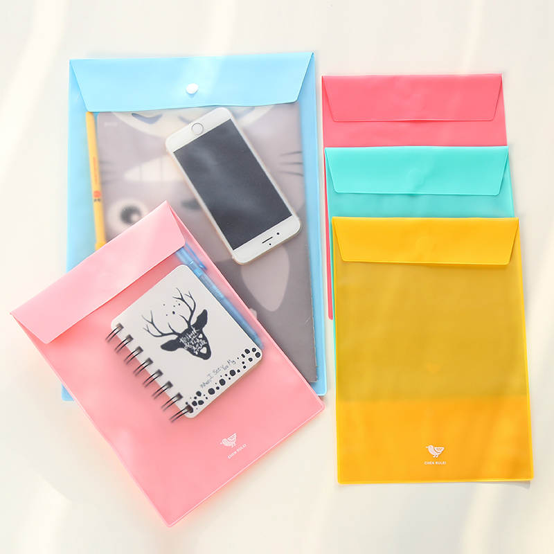 [해외]편지지 한국 마카롱 A4 폴더 투명 파일 노트 폴더 사무 용품.-0473/Stationery Wholesale Korea Macarons A4 Folder Transparent File Notes Folder Office Supplies.W-0473