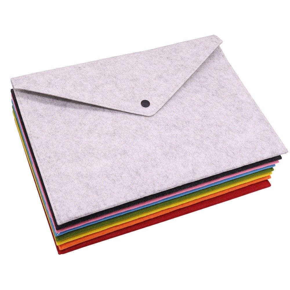 [해외]8 개 단색 A4 대용량 서류 가방 비즈니스 서류 가방 파일 폴더 화학 펠트 서류 제출 학생 선물/8 pcs Simple Solid A4 Big Capacity Document Bag Business Briefcase File Folders Chemical Fe